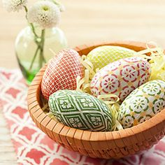 Dressed Up Eggs Transform wooden eggs into charming Easter gifts or special decorations you can display for years to come—no dye required! Easter Peeps, Hoppy Easter, Easter Party, Diy Ostern, Easter Traditions, Easter Crafts For Kids, Easter Decor, Easter Celebration, Egg Decorating