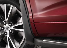 OEM Toyota mudguards specifically contour to your Highlander's body panels for perfect fit and function.  PT908-48111