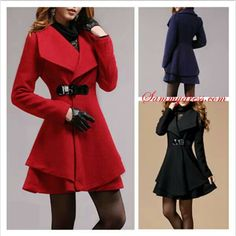 Pink Cashmere Coat Fitted Military Style Wool Winter Coat Women ...