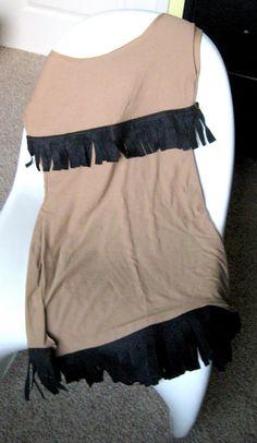 Made from an XL tan tshirt!