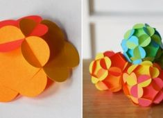 Use colorful paper to make beautiful shatterproof balls! Paper Balls, 3d Paper, Xmas Decorations, Xmas Gifts, Silicone Molds, Diy Crafts, Ale, How To Make, Colorful