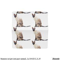 Siamese cat pet cute purr animals kitties checkbook cover