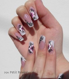 Pinned by www.SimpleNailArtTips.com - NAIL ART DESIGN IDEAS One Stroke flowers Advanced