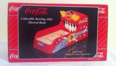 COCA-COLA BOWLING ALLEY MUSICAL BANK 1999 90s bowler pins ball diecast Original  #CocaCola