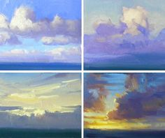 """""""Cloud Studies"""" Oil on Canvas by Richard Robinson - Click to see the Demo Video"""