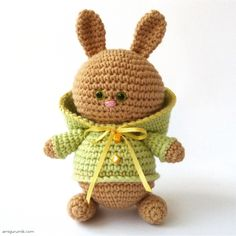 Crocheted little bunny