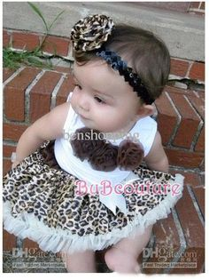 Wholesale Baby 2 pcs sets leopard lace Brown girls tutu skirt sets sleeveless t shirt  skirt,Y-M7, Free shipping, $9.22-12.21/Set | DHgate