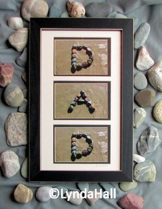 IDEA!  make letters of alphabet on beach, take pictures, and spell words or names when you get home :) (kids camping craft)