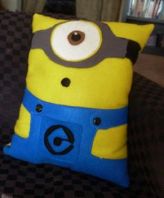 Despiciable Me Sweet Minion O Boy Felt Appliqued by LoveWithFaith, $25.00
