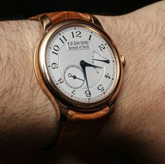 """F.P. Journe Chronometre Souverain Watch Review - by Ariel Adams - see the hands-on video, full photo gallery, & read more: http://www.ablogtowatch.com/f-p-journe-chronometre-souverain-watch-review/ """"When people ask me about brands to take a close look at, those whose watches might increase in value, or simply those that interest serious watch lovers who are more interested in product than brand names... my response regularly includes F.P. Journe. Today, I am going to review the F.P. Journe…"""
