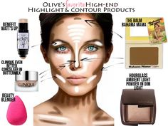 Olive's Favorite High End Highlight/Contour Products - Ivory and Olive
