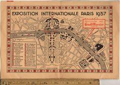 Paris 1937 map