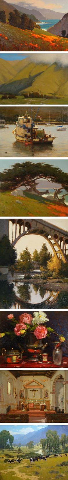 Brian Blood paintings of California