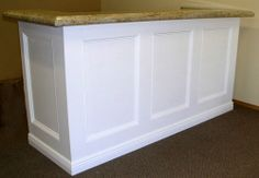 diy reception desk | reception desk - turn our existing into something updated