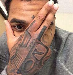 Kevin Gates hand tattoo