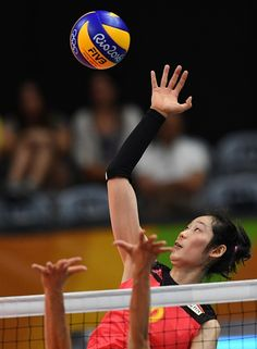 China's Zhu Ting jumps to thi the ball during the women's qualifying volleyball match between China and Italy at the Maracanazinho stadium in… Volleyball History, Volleyball Players, Sports Figures, Sports Stars, Olympics, Sailing, Action, Italy, China