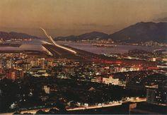 画像に含まれている可能性があるもの:空、屋外 Kai Tak Airport, Paris Skyline, Hong Kong, History, Travel, China, Historia, Viajes, Destinations