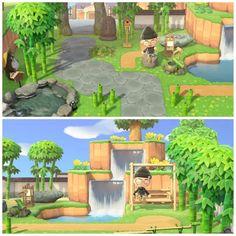 Made a little Japanese/Zen inspired Park. : AnimalCrossing Made a little Japanese/Zen inspired Park. Animals Crossing, Animal Crossing Guide, Animal Crossing Qr Codes Clothes, Zen Sand, Motifs Animal, House Ideas, Real Plants, Island Design, Geek Decor