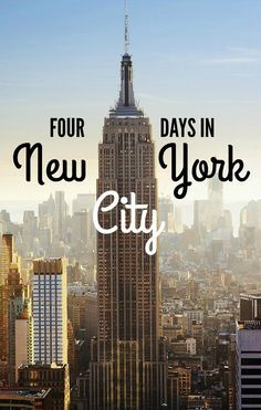 4 Days in NYC RePinned by : www.powercouplelife.com