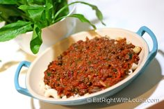 Wheat-free Pasta with Minced Lamb - Eat Right with Louisa - www.eatrightwithlouisa.com