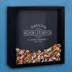 Cigar aficionados, you shouldn t settle for a sub-par cigar band display. Spruce up your man cave or smoking room with our handsome custom cigar band shadow box. Engraved with the name, initial, and...