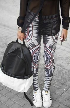 digital printed leggings by Peace and Chaos #peaceandchaos #leggings #streetstyle #fashion #sale #now