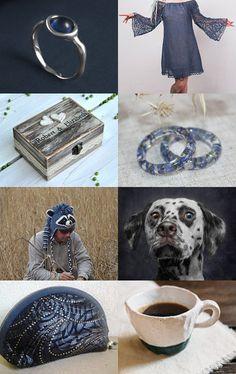 Blue and grey christmas gift idea by Svetlana Pershina on Etsy--Pinned with TreasuryPin.com