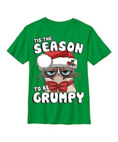 This Grumpy Cat 'Tis the Season' Tee - Youth is perfect! #zulilyfinds