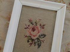 Vintage Framed Shabby Chic Romantic Pink Roses by thequeensstuff, $22.00