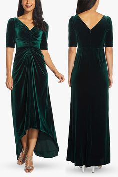 Long Green Velvet Bridesmaids Dress. Bridesmaids Dresses for Winter Wedding. Exactly as with Summer Weddings, you should look to Nature for inspiration on your colours. Through Winter the hues we see in Nature include deep greens, berry reds and pinks, mustard yellow, burnt orange, chestnut brown, sage, caramel and of course winter white. Rich Jewel tones like Sapphire Blue, Deep Emerald, Burgundy, Amethyst along with cool grey and frosted blues also popular for Winter Wedding colours…