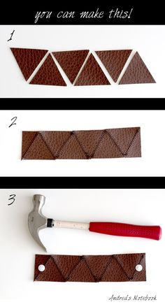 #DIY Leather Bracelet from @Andrea Pannell | Easy to make! | Supplies available at Joann.com or your local Jo-Ann Fabric and Craft Store