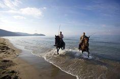 Maremma's Butteri cowboys on the beach