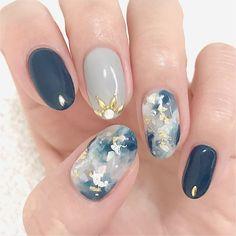 42 elegant nail art designs for prom 2019 50 ~ tel. Nail Art Designs, Marble Nail Designs, Marble Nail Art, Nail Manicure, My Nails, Nail Polish, Manicures, Pedicure, Silver Nail Art