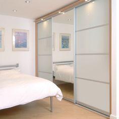 Tidy Bedrooms; beech and mirror wardrobe