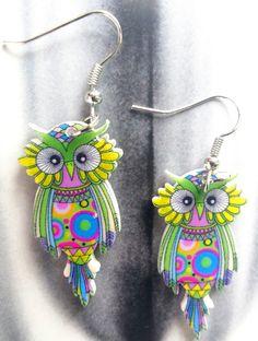 Owl earringsanimal earringsbird by UptownGirlFashion on Etsy