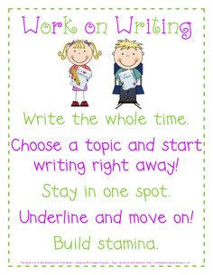 Work on Writing poster - bright.pdf - Google Docs. Make larger for anchor chart?