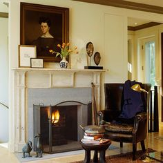 fireside reading spot ~ Eric Cohler design