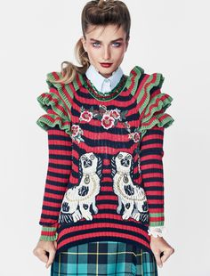 Andreea Diaconu by Patrick Demarchelier for Vogue US November 2016