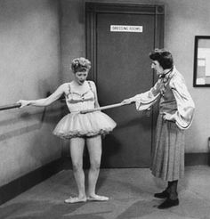 Nice posture! After Lucy gets trapped in a fib about being a former ballerina she rushes to Madame Lamand's studio to pass the barre. (Photo courtesy Loomis Dean//Time Life Pictures/Getty Images) - I Love Lucy Picture