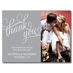 Wedding announcement postcard