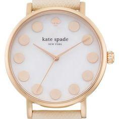 kate spade new york 'metro' dot dial watch & straps set, 34mm | Nordstrom