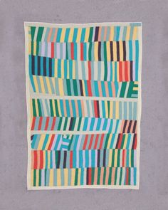 Twin size quilt: Poplar Camp quilt improv modern by mastgeneral--Zak Foster Gees Bend Quilts, Brooklyn, Twin Quilt Size, Quilt Modernen, String Quilts, Star Quilts, Vintage Quilts, Cotton Quilts, Baby Quilts