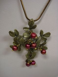 SILVER SEASONS BY MICHAEL MICHAUD ~ CRANBERRIES PEARLS NECKLACE (NEW) 8054 #SilverSeasons