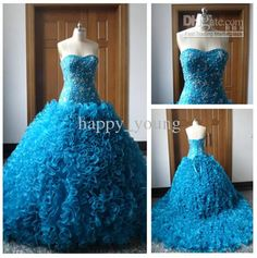 2015 Newest Movie Cinderella Prom Dresses Luxury Crystals Lily James  Glittery Blue Princess Evening Ball Gowns Tiered Blue Quinceanera Dress  Quinceanera ... 54e1ef6b87