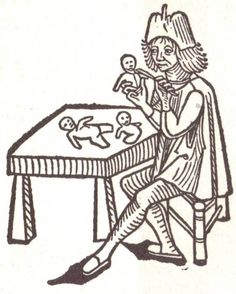Another illustration showing a 15th century German doll maker.