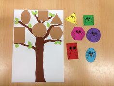 Eulen-Spiel, geometrische Formen zuordnen,  Die Eulen möchten in ihr Nest...
