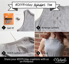 This week's DIYFriday spells style with an Alphabet T-shirt