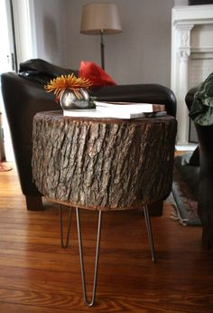 How To: DIY Stump Table | 17 Apart: How To: DIY Stump Table.  I totally need to rescue a stump from the woods for this purpose.