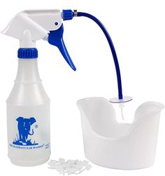 Elephant Ear Washer Bottle System Kit w/Tips Ear Basin & Washer for Ear Wax Elephant Ear Washer, Elephant Ears, Toning Shampoo, Tips Online, Ear Wax, Cc Cream, Shampoo And Conditioner, Spray Bottle, Basin