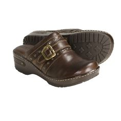 Born Festival Clogs - Leather (For Women) in Chocolate
